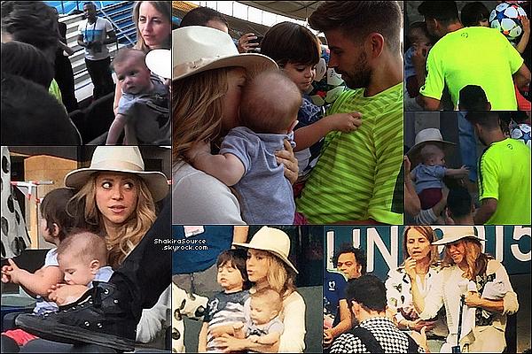 ⚽ Puis Shakira, Milan, Sasha & Montserrat sont allés à « L'entraînement du FC Barcelone » avant la finale de la Ligue des Champions contre la Juventus de Turin. o5 Juin 2o15. Berlin, Allemagne.