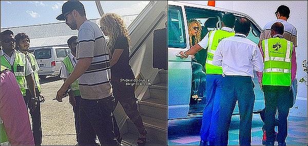 ✈️ Shakira & Gérard ont été vus arrivant à « L'Aéroport des Iles Maldives ». 16 Juin 2o15. République des Maldives.