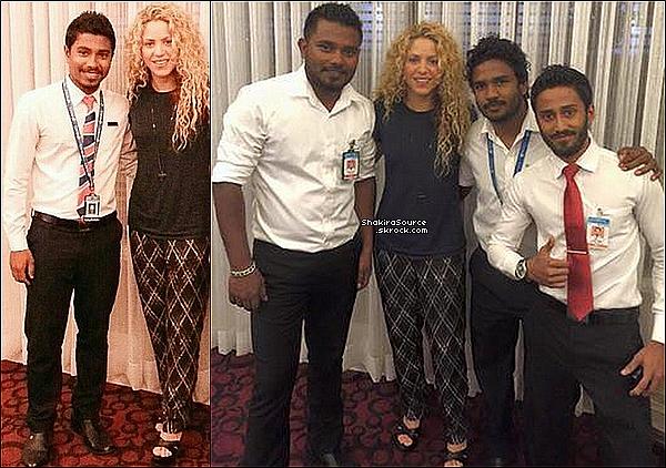 ✈️ Shakira & Gérard ont été vus à « L'Aéroport des Maldives ». 23 Juin 2o15. République des Maldives.