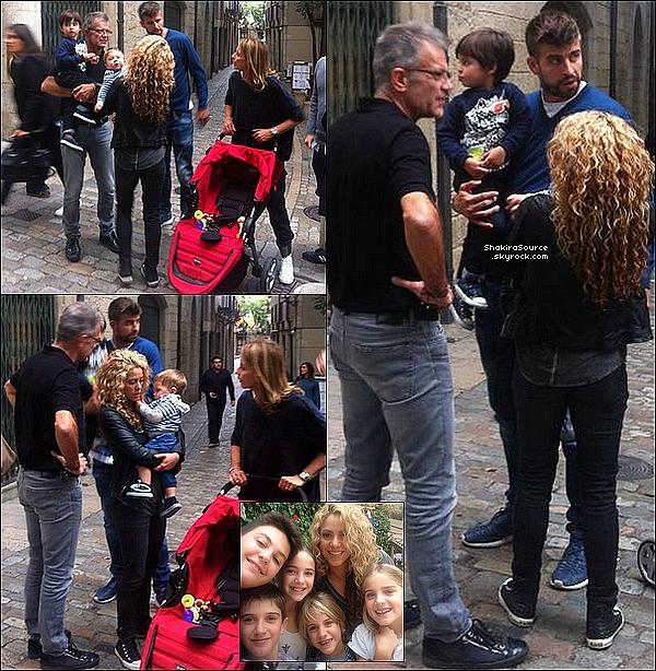 🎤 Le soir, Shakira & Gérard sont allés au « Concert de U2 » au Palau Sant Jordi. o5 Octobre 2015 - Barcelone, Espagne.
