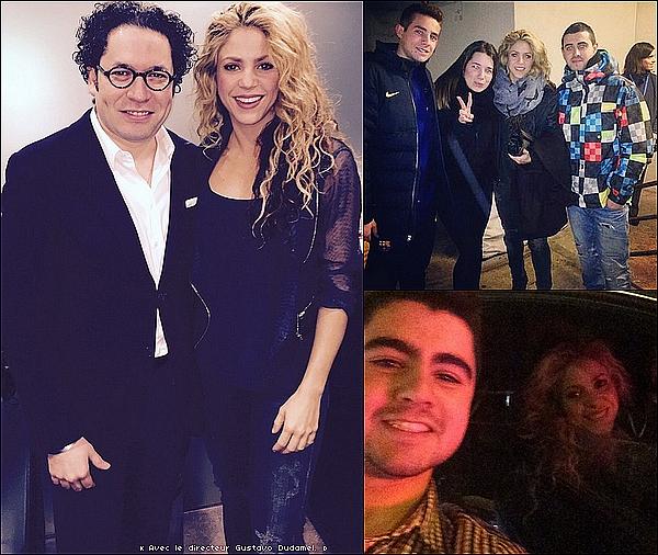 📷 Shakira a rencontré le directeur « Gustavo Dudamel ». o6 Janvier 2o16 - Barcelone, Espagne.