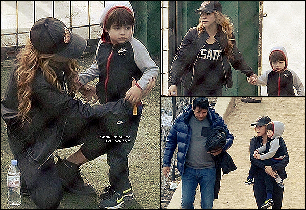 ⚽ Shakira & son frère Tonino ont accopmpagnés Milan à son « Entraînement de Football ». 18 Janvier 2o16 - Barcelone, Espagne.