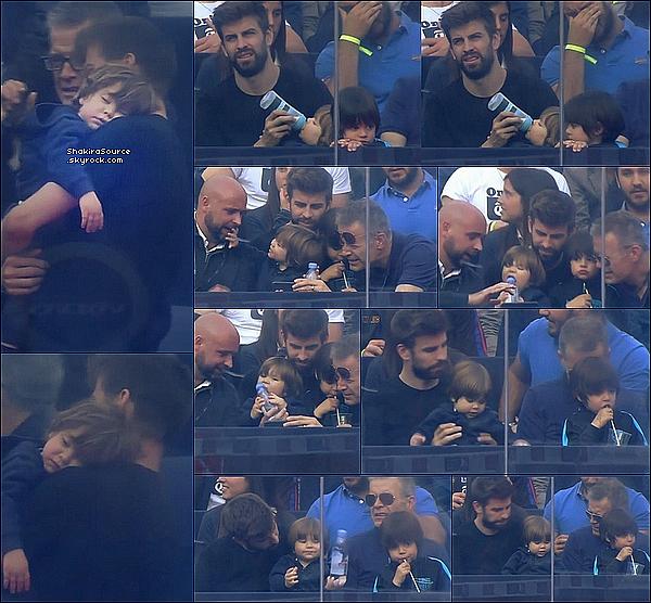 ⚽ Gérard & son Papa Joan ont emmenés Milan & Sasha « Voir un match de Tennis  ». o6 Mai 2o16 - Barcelone - Espagne.