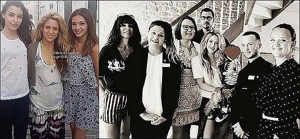 🏠 Shakira était à l'Hôtel « Let's Clos St Martin » . 20 Juin 2o16 - Saint Martin de Ré - France.