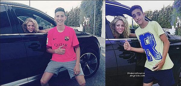 🚶 Shakira, Gérard & leurs enfant ont été vus dans les « Rues de Barcelone ». 28 Juillet 2016 Barcelone - Espagne.