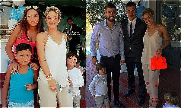 ⛪ Shakira, Gérard, Milan & Sasha sont allés au « Baptême du fils de Sergio Busquets » 26 Août 2016 Barcelone - Espagne.