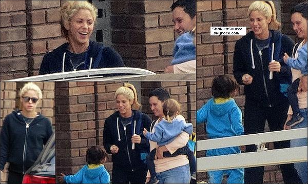 🎒 Shakira est allée « Chercher Milan à l'Ecole » . 19 Octobre 2o16 - Barcelone, Espagne.