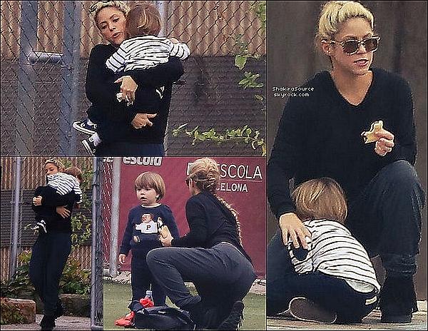 ⚽ Shakira a emmené Sasha à son « Entraînement de Foot » . 24 Octobre 2o16 - Barcelone, Espagne.