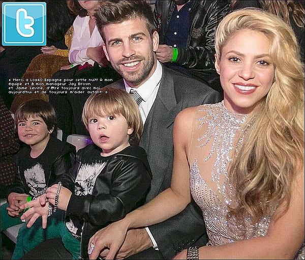 ✴️ Shakira, Gérard, Milan & Sasha sont allés à « Los40 Music Awards »  qui se déroulaita au « Palau Sant Jordi ». 1er Décembre 2o16 - Barcelone, Espagne.