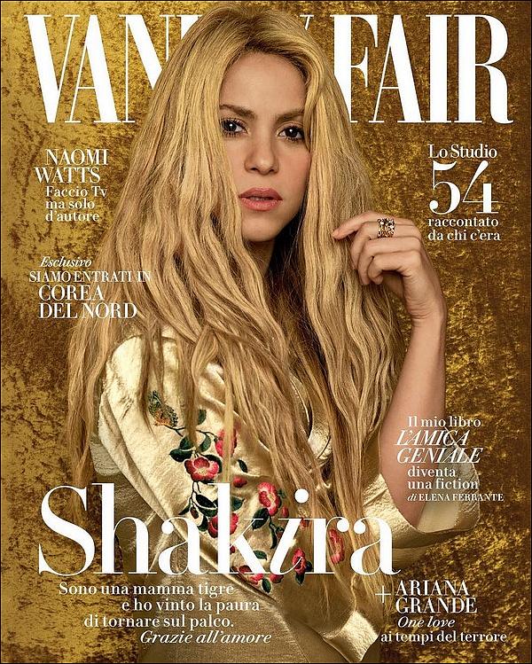 📷 Shakira fait la Couverture de Vanity Fair Magazine.  Juillet 2o17. Italie.