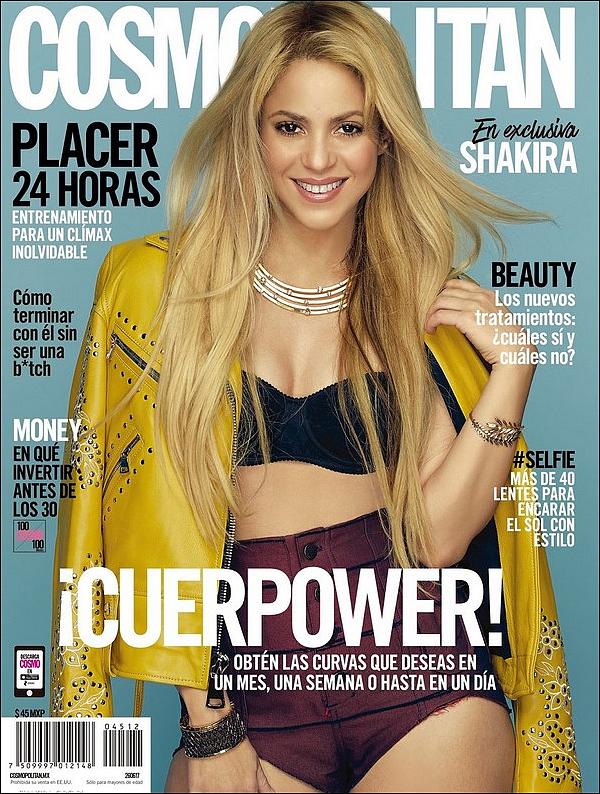 📷 Shakira fait la Couverture de Comopolitan Magazine.  Juillet 2o17. Russie.