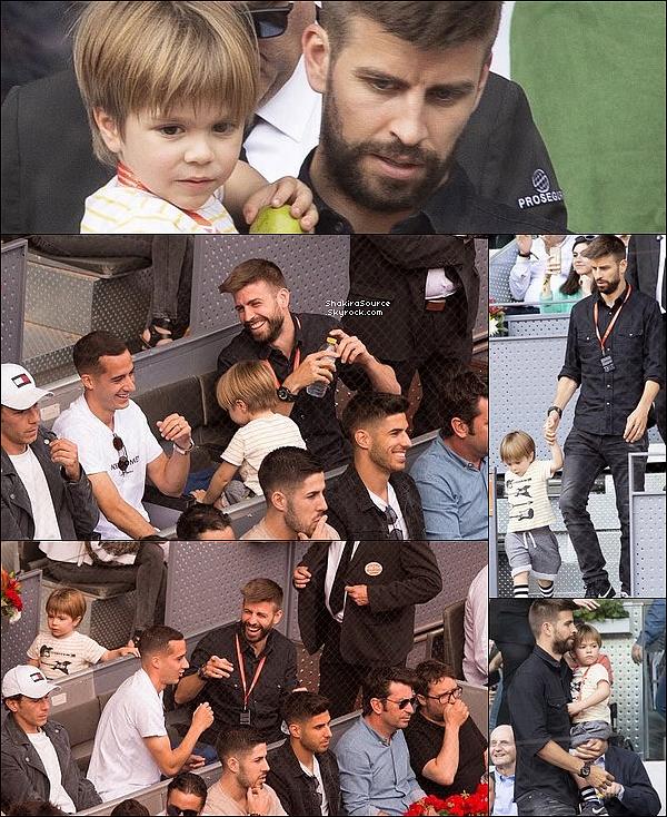 🚘 Gérard a emmené Milan & Sasha au  « Montmeló Circuit » dans le box de Lewis Hamilton pour le Spanish Grand Prix. 12 Mai 2o18 - Barcelone, Espagne.