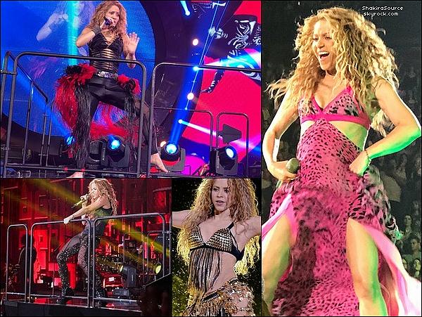 🎤 Shakira avec un fan au « Honda Center » après son concert. 31 Août 2o18 - Anaheim, Etats-Unis.