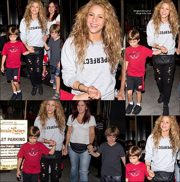 🍴 Puis, Shakira a emmenée Milan dîner à « The Cheesecake Factory ». o3 Septembre 2o18 - Los Angeles, Etats-Unis.
