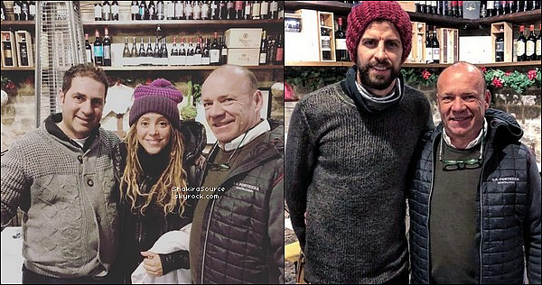 🍷 Shakira & Gérard sont allés dans un magasin de vins appelé « La Fortezza Di Montalcino ».  29 Décembre 2o18 - Sienne, Italie.