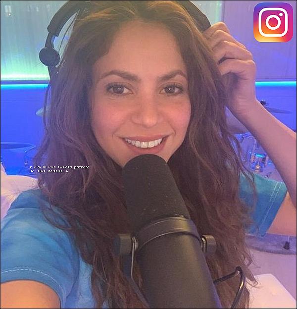 📷 Shakira a posté une « Photo d'Elle » préparant des nouveaux sons.  26 Mai 2o2o - Barcelone, Espagne.