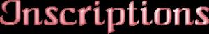 Inscriptions des personnages