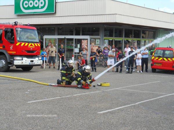 Manoeuvre Incendie, Sapeurs-Pompiers de Barr