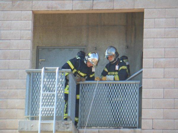 Manoeuvre Incendie, CSP Colmar, SDIS 68