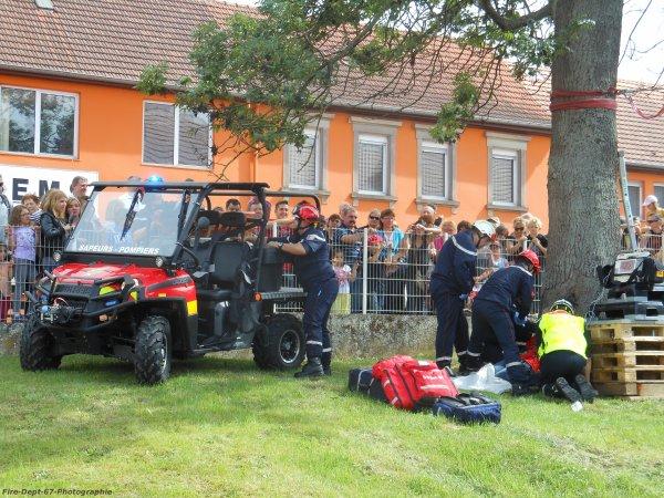 Manoeuvre Secours en Montagne, CIS Saverne 2/3