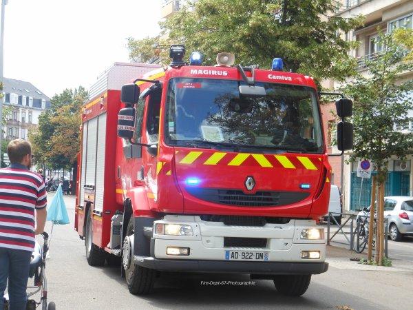 Incendie dans le quartier gare à Strasbourg 1/2