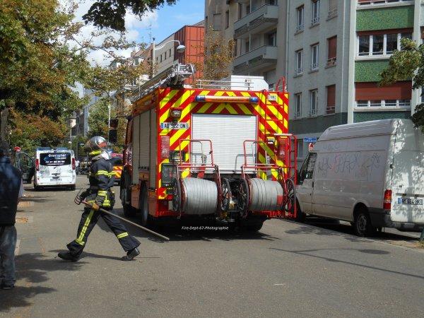 Incendie dans le quartier gare à Strasbourg 2/2