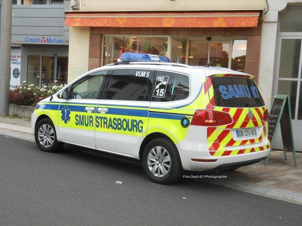 ancien VSAV 2 Strasbourg Nord et VLM 5 SMUR Strasbourg