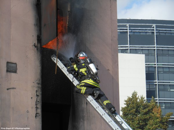 JPO Strasbourg Ouest, Manoeuvre Incendie 2 ( 3/6 )