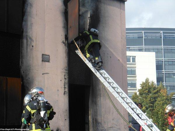 JPO Strasbourg Ouest, Manoeuvre Incendie 2 ( 4/6 )