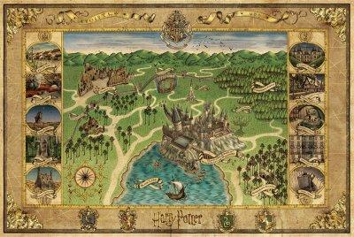 L'actualité du 5 juillet : Découvrez la carte de Poudlard (Provenant du coffret Harry Potter Wizard)