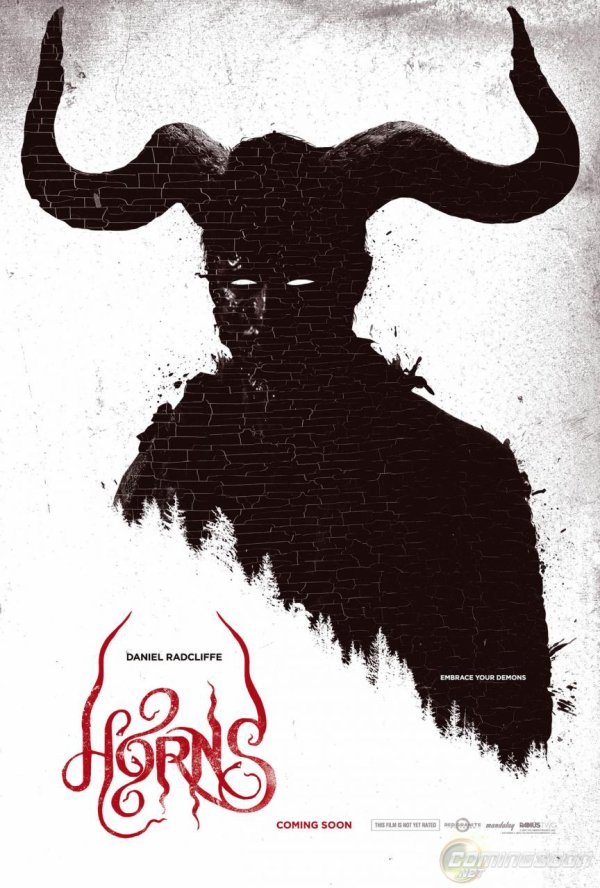 L'affiche officielle du film Horns avec Daniel Radcliffe