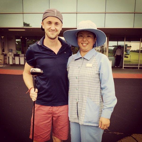 La semaine de Tom Felton au Japon.