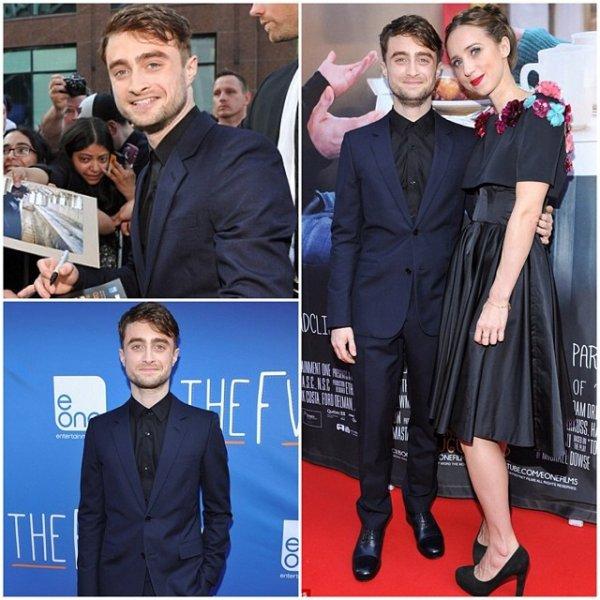Daniel Radcliffe à Toronto pour l'avant première de son film The F Word.