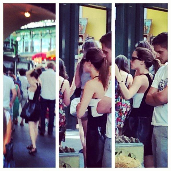 Emma Watson aperçue en voiture à Londres (26 juillet)