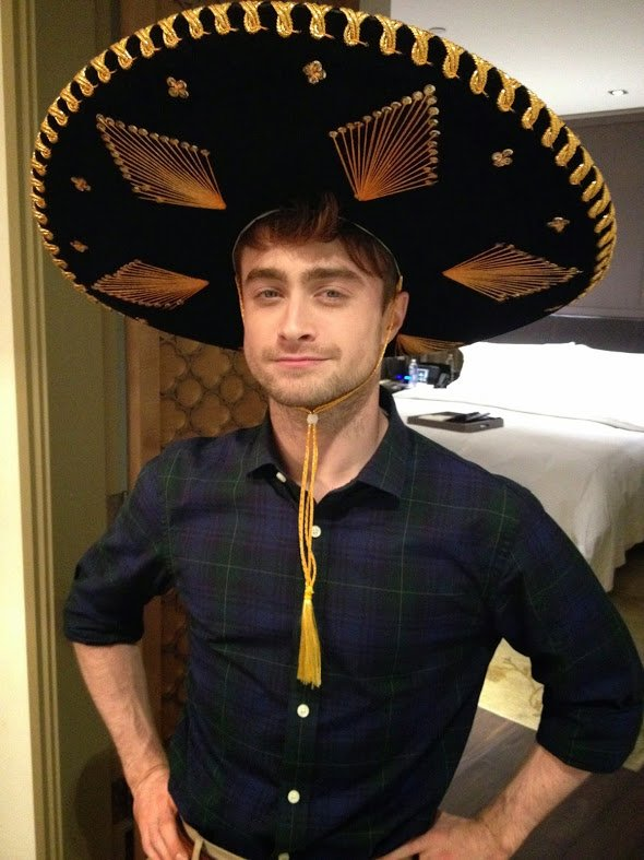 Daniel Radcliffe fière de son sombrero !