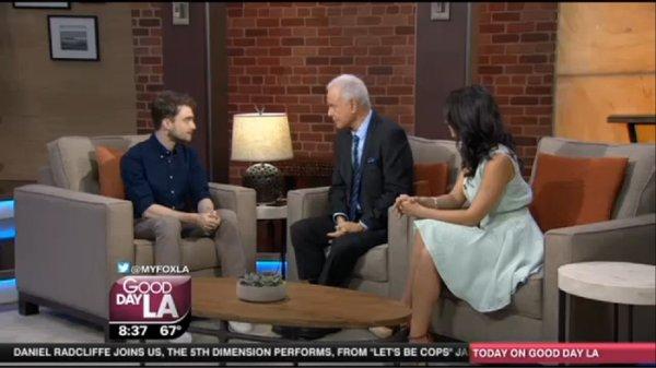 Vidéo : Daniel Radcliffe invité dans Good Morning LA hier (7 août)