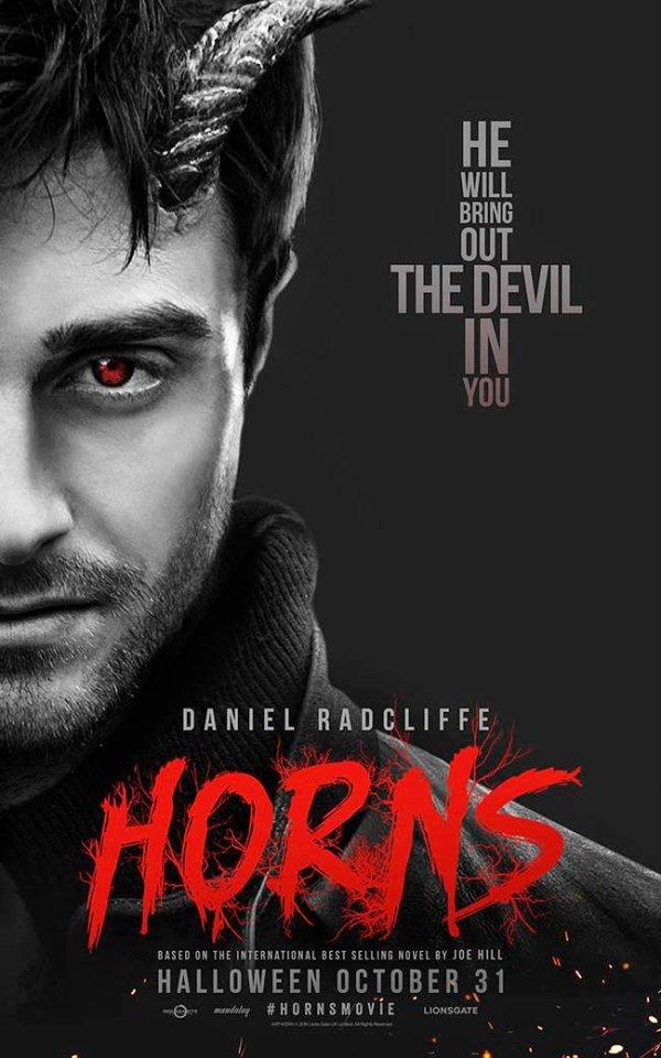 Nouvelle affiche promotionnelle d'Horns avec Daniel Radcliffe !