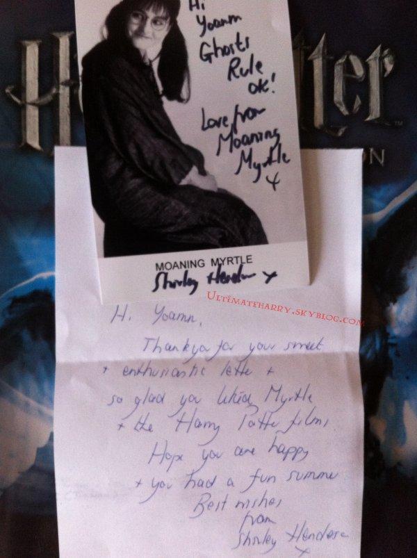 Ecrivez aux acteurs d'Harry Potter & recevez des autographes !
