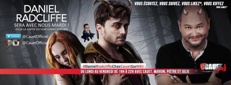 Daniel Radcliffe en interview chez Cauet mardi prochain sur NRJ !