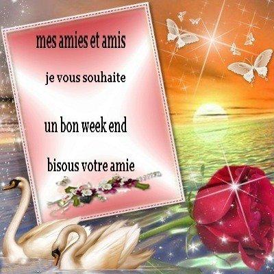 MES AMIES ET AMIS JE VOUS SOUHAITE UN BON WEEK END
