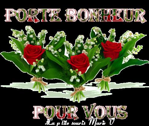 MOI ET MON MARI ET IMBERT NOUS VOUS SOUHAITONS UN BON 1er MAI