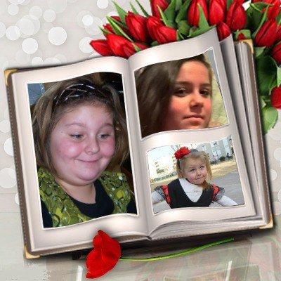 mes trois petites filles cassandra manon et lea