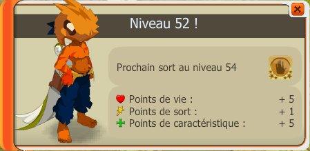 Up 52 and record d'xp du sacri :)