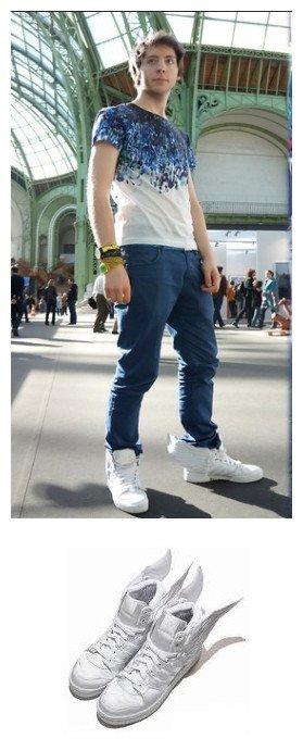 Pure Jeremy Scott x 2NE1 Wings Adidas 2.0 White Satin For