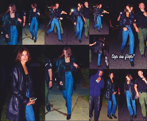 20/10/19 - Kaia a été vue arrivant à une fête organisée dans les hauteurs de Los Angeles, CA