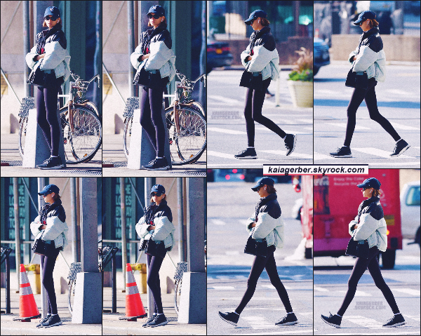 26/10/19 - Miss Kaia Gerber a été aperçue sortant de la salle de sport située à New-York City !