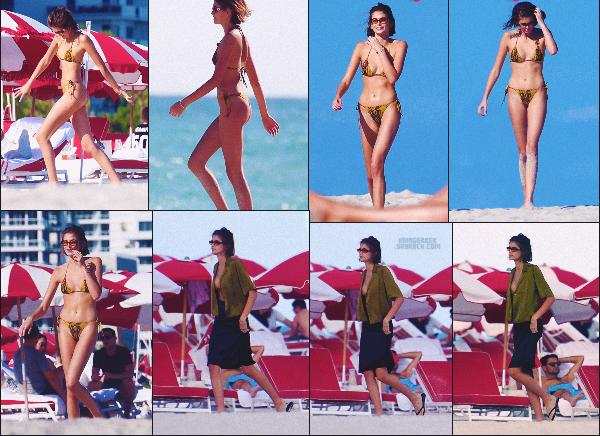 22/11/19 -La jolie Kaia Gerber a été photographiée avec des amis profitant d'une plage privée située à Miami ! Je comprends pourquoi Kaia n'arrêtait pas d'aller à la salle de sport ! Elle est juste SUBLIME - un TOP ou un FLOP ? ••