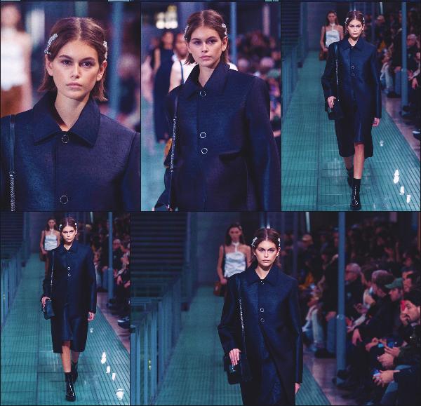 - Kaia Gerber défilait pour la marque Alyx Menswear à la Fashion Week de Paris, FR. -
