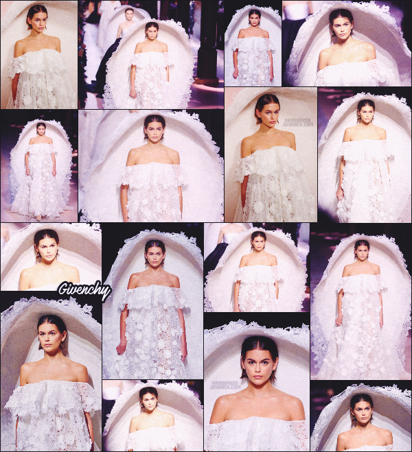 - Kaia Gerber défilait pour la marque Givenchy à la Fashion Week de Paris, FRANCE. -