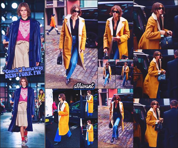 - Kaia Gerber défilait pour la marque COACH à la Fashion Week de New-York City. -